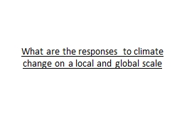 What are the responses to climate change on a local and glo