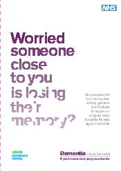 Worried someone close to you is losing their memory Many people suffer from memory loss as they get older