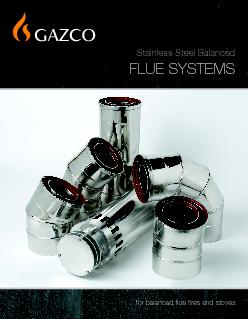 for balanced flue fires and stoves