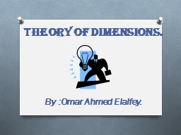 Theory of dimensions.