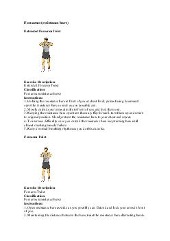 Forearms (resistance bars)