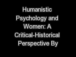 existential psychology and humanistic approach use