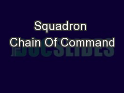 Squadron Chain Of Command PowerPoint PPT Presentation