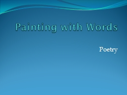 Painting with Words PowerPoint PPT Presentation
