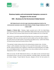 Business leaders and environm ental champions convene