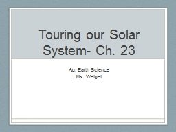 Touring our Solar System- Ch. 23