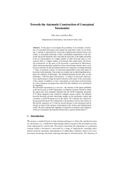Towards the Automatic Construction of Conceptual Taxon