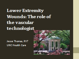 Lower Extremity Wounds: The role of the vascular technologi