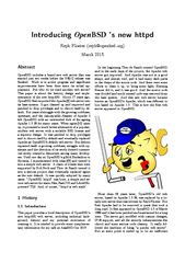 Introducing Open BSD s new httpd Reyk Floeter reykopen