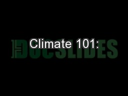 Climate 101:
