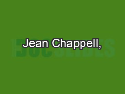 Jean Chappell,