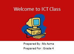 Welcome to ICT Class PowerPoint PPT Presentation