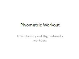Plyometric Workout