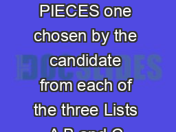 Violin GRADE  THREE PIECES one chosen by the candidate from each of the three Lists A B and C LIST A Anon
