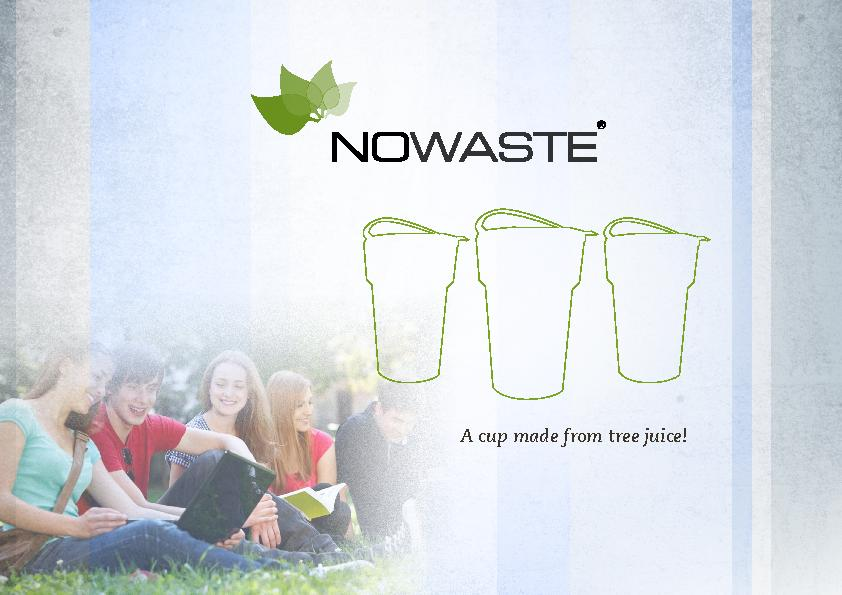 A cup made from tree juice!