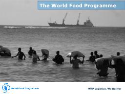 WFP Logistics, We Deliver
