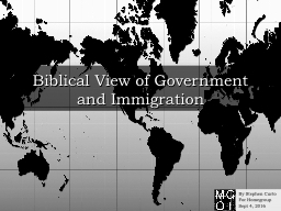 Biblical View of Government and Immigration