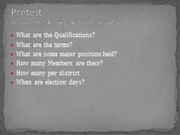 What are the Qualifications?