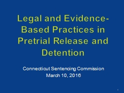 Legal and Evidence-Based Practices in Pretrial Release and