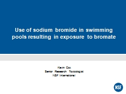 Use of sodium bromide in swimming pools resulting in exposu