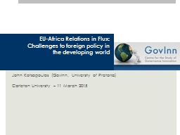 EU-Africa Relations in Flux: Challenges to foreign policy i