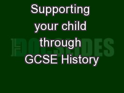 Supporting your child through GCSE History