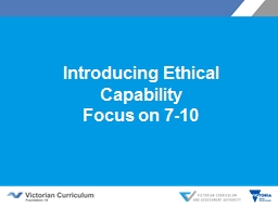 Introducing Ethical Capability