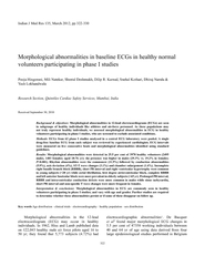 Morphological abnormalities in the lead electrocardiog