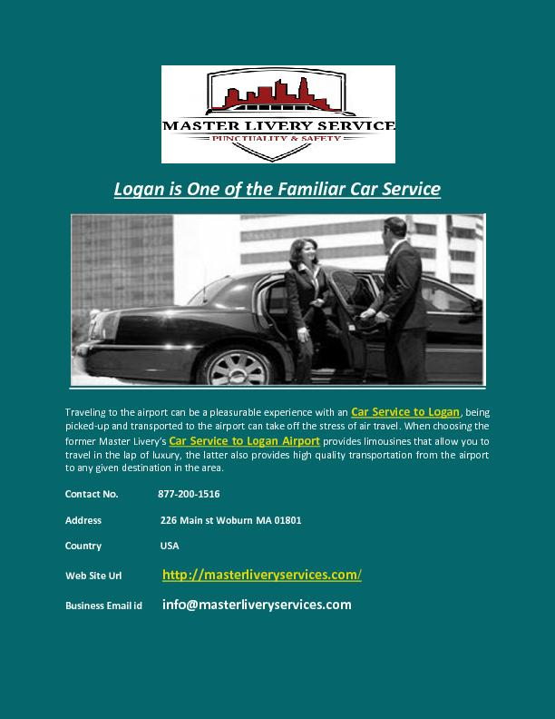 Logan is One of the Familiar Car Service