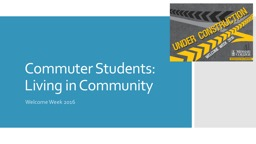 Commuter Students
