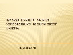 Improve Students' Reading Comprehension by Using Group Re