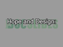 Hope and Design: