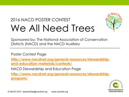 Sponsored by: The National Association of Conservation Di