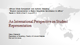 An International Perspective on Student