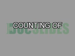 COUNTING OF