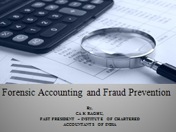 Forensic Accounting and Fraud Prevention
