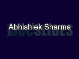 Abhishiek Sharma