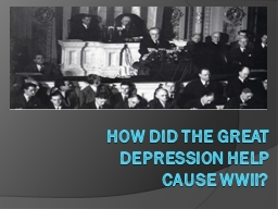 How did the Great Depression help