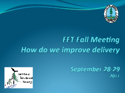 FFT Fall Meeting