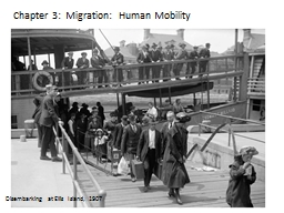 Chapter 3:  Migration:  Human Mobility PowerPoint PPT Presentation