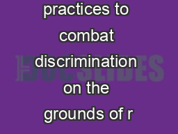 Good practices to combat discrimination on the grounds of r