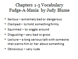 Chapters 1-3 Vocabulary