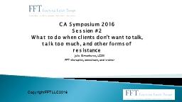 CA Symposium 2016