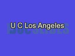 U C Los Angeles