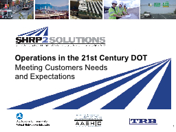 Operations in the 21st Century DOT