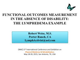 FUNCTIONAL OUTCOMES MEASUREMENT