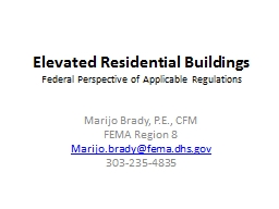 Elevated Residential Buildings PowerPoint PPT Presentation