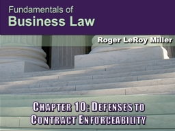 Chapter 10: Defenses to
