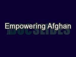 Empowering Afghan