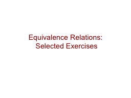 Equivalence Relations: PowerPoint PPT Presentation